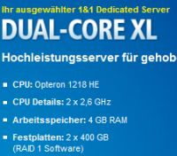 1und1 Root Server Dual Core XL