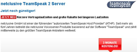 Post image of Netclusive TeamSpeak2 Gameserver